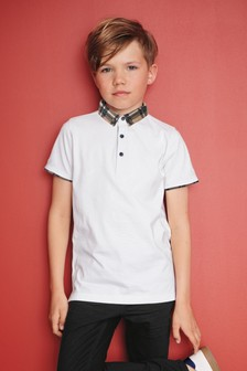 Premium Check Collar Poloshirt (3-16yrs)