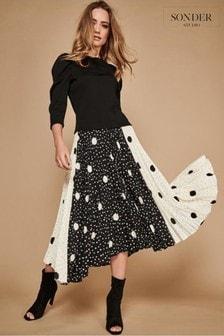 Sonder Black Spot Cutabout Skirt