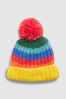 Striped Pom Beanie (Older)