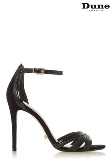Dune London Black Mixed Material High Sandal