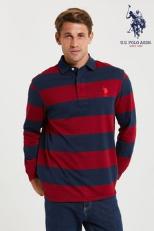 U.S. Polo Assn. Blue Traditional Rugby Shirt