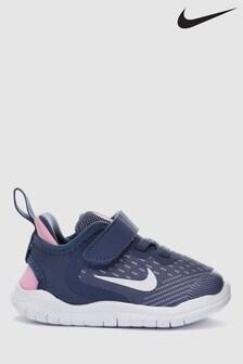Nike Run Free Run Velcro, Blau/Rosa