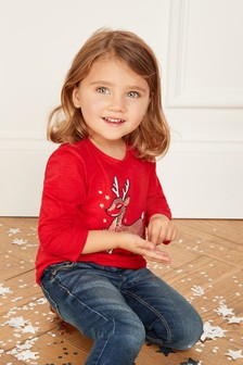 Christmas Sequin T-Shirt (3mths-6yrs)