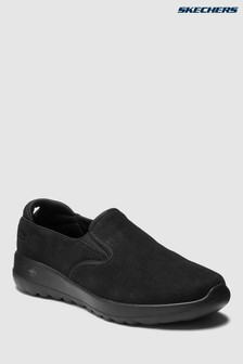 Skechers® Black Double Gore Suede Slip-On