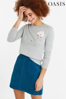 Oasis Grey Cloud Knit Jumper
