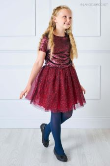 Angel & Rocket Sequin Top And Animal Print Tutu Dress