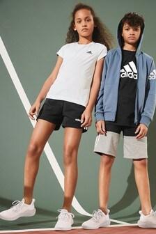 adidas Essential Black 3 Stripe Short