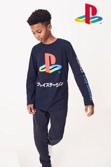 Long Sleeve Playstation™ T-Shirt (3-16yrs)