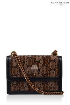 Kurt Geiger London Brown Mini Monogram Shoreditch Bag