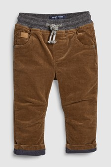 Pull-On Jersey Lined Cord Trousers (3mths-7yrs)