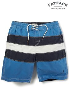 FatFace Navy Reef Twin Stripe Short