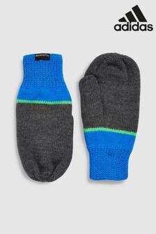 adidas Fausthandschuhe mit Streifen, Blau