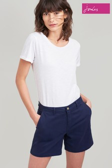 Joules Blue Cruise Mid Thigh Length Chino Short