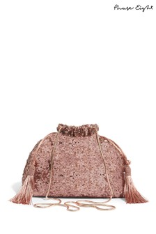 Phase Eight Georgina Sequin Drawstring Clutch Bag