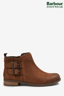 Barbour® Sarah Low Buckle Brown Boots