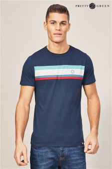 Pretty Green Brydon T-Shirt, marineblau