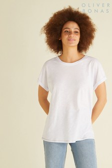 Oliver Bonas White Popper Back T-Shirt