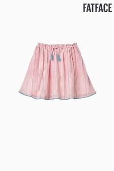 FatFace Pink Stripe Woven Skirt