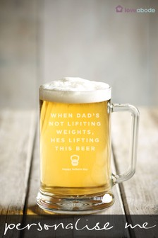 Personalised Weights Beer Glass by Loveabode