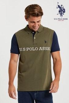 U.S. Polo Assn. Green Block Jersey Poloshirt