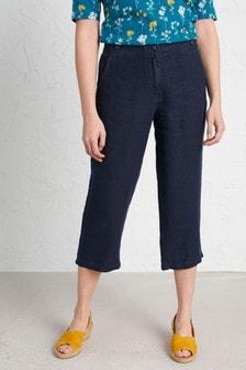 Seasalt Blue Brawn Point Crop Trousers