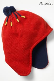 Boden Red Fleece-Lined Hat