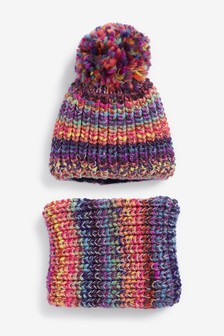 Pom Hat And Snood Set (Older)