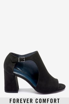 Cut-Out Detail Peep Toe Shoe Boots
