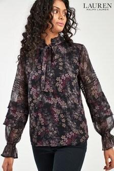 Lauren Ralph Lauren® Black Floral Amiliya Blouse