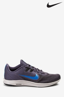 Nike Run Grey/Blue Downshifter 9 Trainers