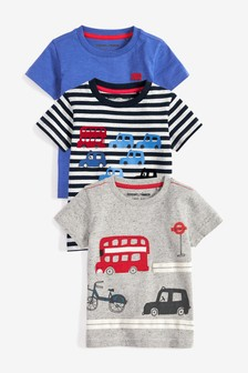 Transport T-Shirts Three Pack (3mths-7yrs)