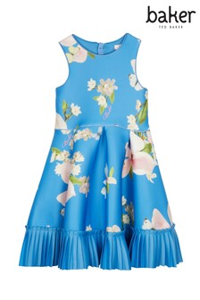 7a0ca4193 baker by Ted Baker Younger Girls Print Bright Blue Dress