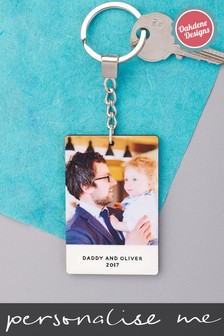 Personalised Photo Upload Photo Keyring by Oakdene Designs