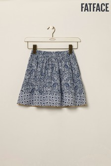 FatFace Blue Mix & Match Print Skirt