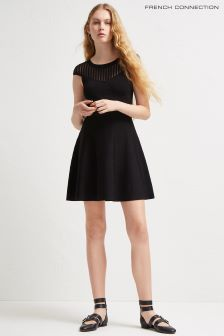 French Connection Black Flared Dress