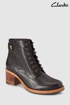 Clarks Clarkdale Tone Lace-Up Heeled Ankle Boot