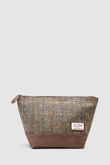 Washbag Using Harris Tweed Fabric