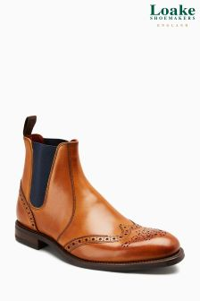 Loake Tan Hoskins Brogue Chelsea Boot