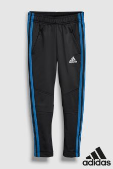 adidas Football Black/Blue 3 Stripe Pant