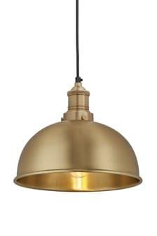 "Industville Brooklyn Brass 8"" Dome Pendant"