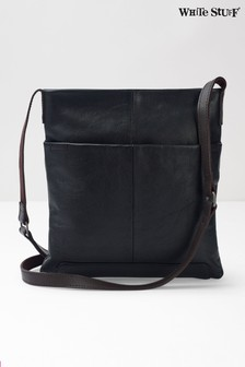 White Stuff Black Issy Leather Crossbody Bag