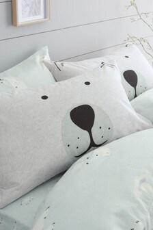Juego de 2 fundas de almohada con diseño de oso polar