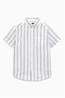 Linen Mix Short Sleeve Shirt (3-16yrs)