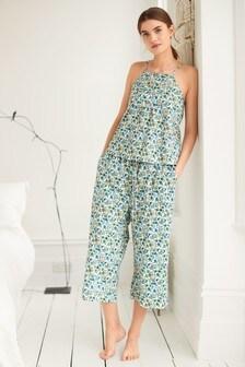 Woven Cotton Cami Pyjamas