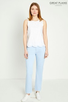 Great Plains Powder Blue High Rise Straight Trouser