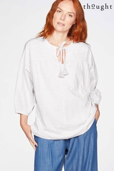 Thought White Jersey Blouse