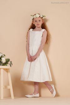 Angel & Rocket Organza Overlay Bow Shoulder Dress