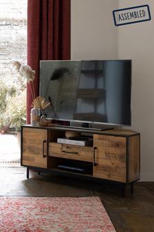 Jefferson Rustic Corner TV Stand