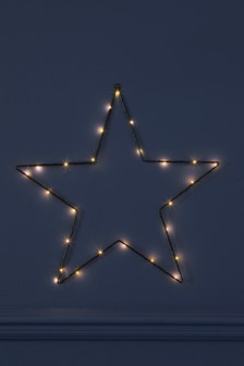 Lit Wire Wall Star