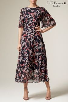 L.K.Bennett Delina Printed Silk Dress